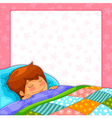 sleeping boy vector image vector image