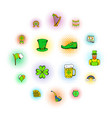 st patrick day set icons vector image vector image
