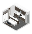 Studio apartment isometric icon set vector image vector image