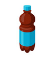 stylized bottle soda or cola in vector image