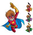super boy flying vector image vector image