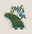 surf lettering print vector image