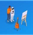 teaching ai art composition vector image vector image