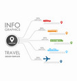 travel infographic design template with place for vector image