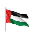 waving flag of united arab emirates vector image vector image