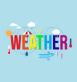 weather condition and meteorological forecast vector image