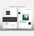 blue geometric square annual report brochure vector image