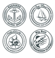 Nautical Stamps Set vector image