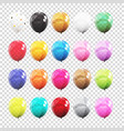 big set group of colour glossy helium balloons vector image