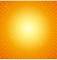 Orange Sunburst bright background vector image