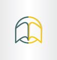 open book abstract symbol design vector image