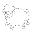 Toy sheep icon in outline style isolated on white vector image