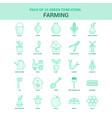 25 green farming icon set vector image