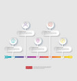 5 steps infographic timeline design template with vector image vector image