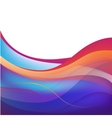 abstract colorful wavy background vector image vector image