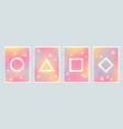 abstract holographic and geometry vector image