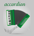 accordion musical instruments stock vector image