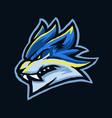 blue wolf e sport head vector image