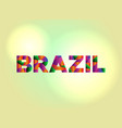 brazil concept colorful word art vector image vector image