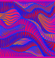 bright psychedelic art waves decorative texture vector image