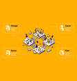 business organization infographic banner vector image