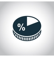 Business pie chart icon vector image vector image