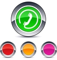 call round button vector image vector image