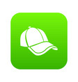 cap icon green vector image vector image