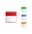 Colorful engagement calendar set vector image