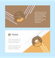 doughnut abstract corporate business banner vector image