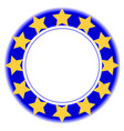 european union symbol in a blue ring vector image vector image