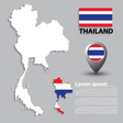 flag and map thailand vector image