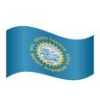 flag of south dakota waving on white background vector image vector image
