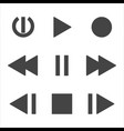 flat multimedia icons vector image vector image