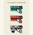 futuristic gun vector image vector image