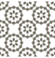 Geometric repeating ornament with black vector image