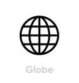 globe earth icon editable line simple vector image vector image