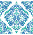 green and blue damask pattern vector image vector image