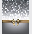 grey holiday background with gold bow vector image