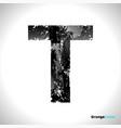 grunge letter t black font sketch style symbol vector image vector image