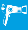 hairdryer icon white vector image vector image