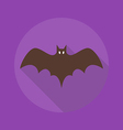 Halloween Flat Icon Bat vector image