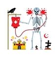 Halloween Skeleton and dropper Cartoon vector image vector image