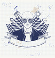 hand drawn sketch racer man vector image vector image