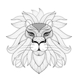 Hand drawn zentangle Ornamental Lion for adult vector image