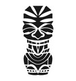 hawaii wood idol icon simple style vector image