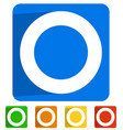 icon with circle on square in 5 colors vector image