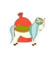 Isolated Christmas little pony vector image vector image