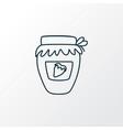 jam jar icon line symbol premium quality isolated vector image