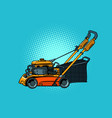 lawnmower mower lawn mower trimmer vector image vector image